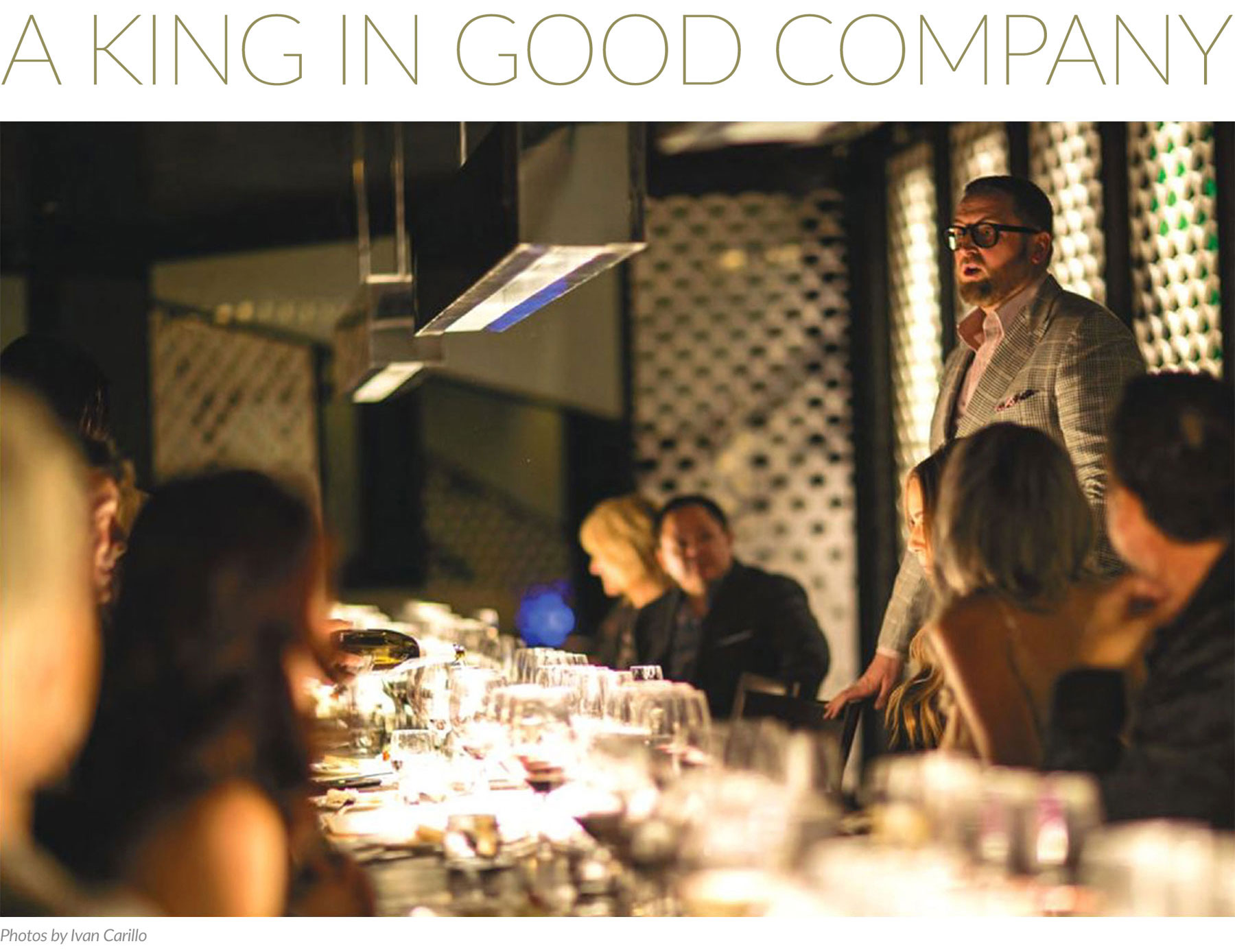 A King In Good Company Christopher King in Luxury Magazine
