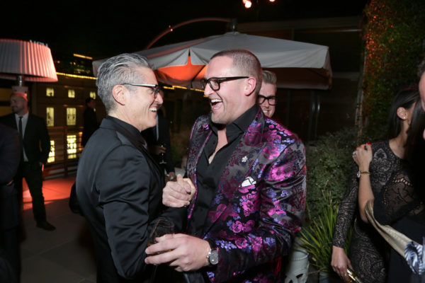 Ron Rosenblum and Christopher R. King Celebrate King's Birthday at Louis Vuitton in Beverly Hills