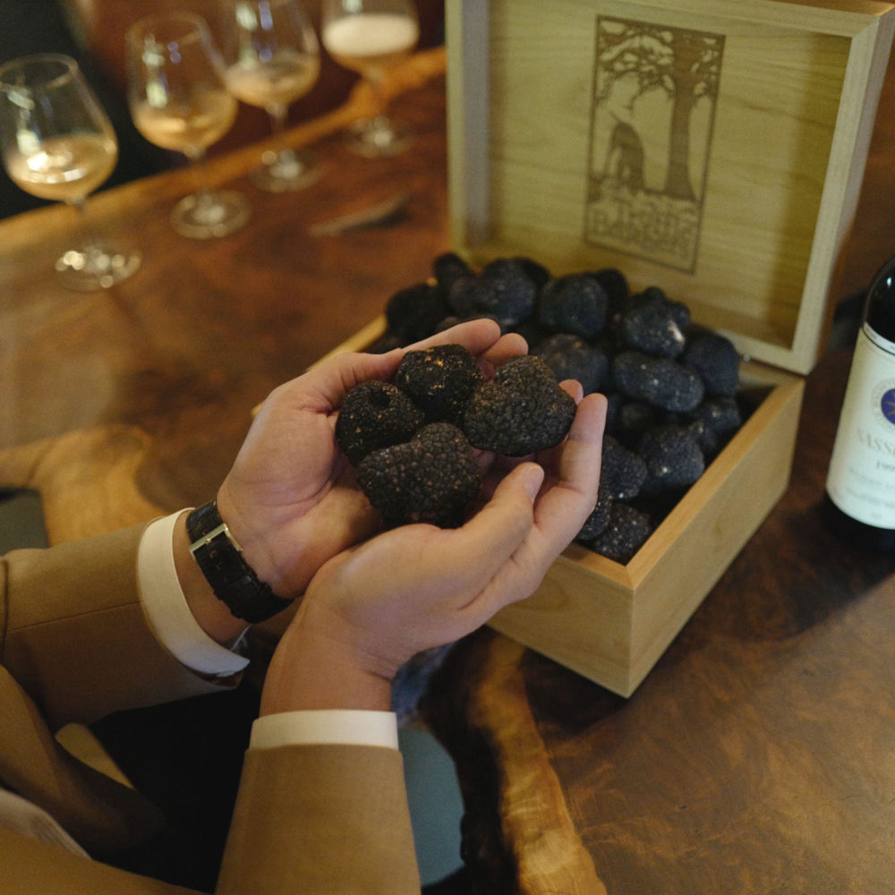 Christopher R. King sampling summer truffles